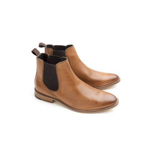 Ikon Jerry Chelsea Boots in Tan