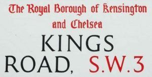 Kings Road Street Sign