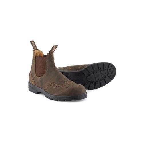 Blundstone 1471 Men's Brogue Chelsea Boots in Brown