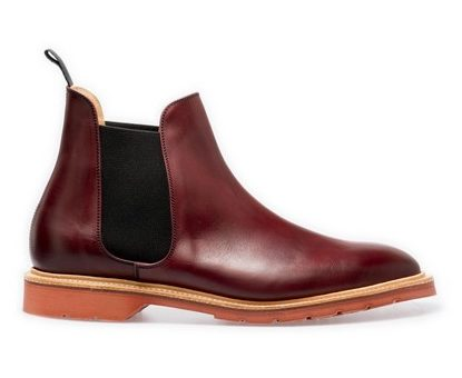Solovair Chelsea Boots in Burgundy