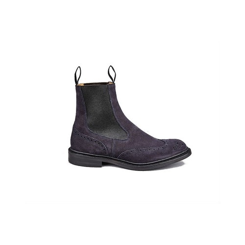 Trickers Henry Chelsea Boots Navy