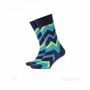 Burlington Zig Zag Socks in Blue