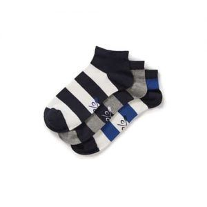 Crew Block Stripe Trainer Socks