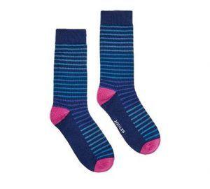 Joules Striking Stripe Ankle Socks