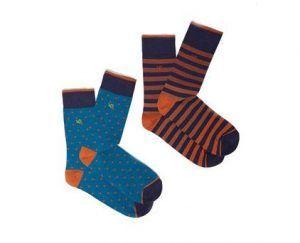 White Stuff Spots Stripes Socks