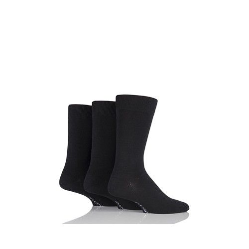 Glenmuir Classic Socks Plain Black