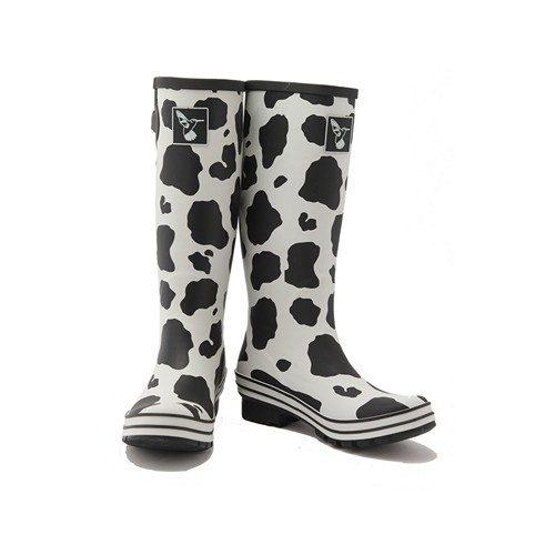 Evercreatures Cow Print Wellington Boots