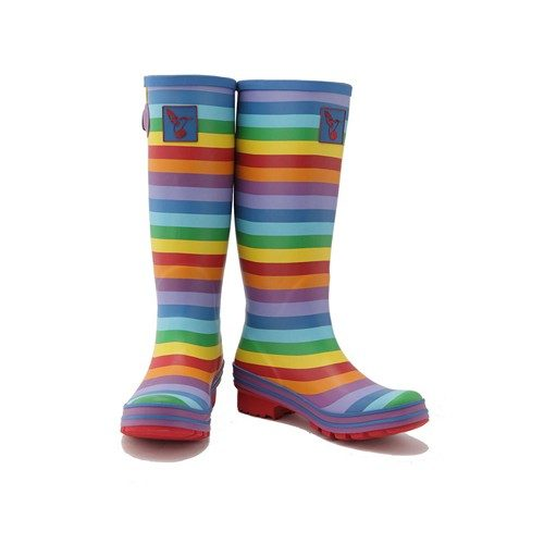 Evercreatures Rainbow Wellington Boots Tall