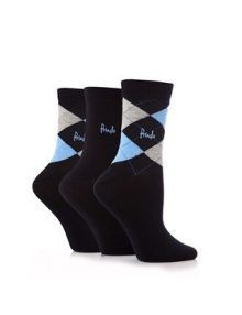 Pringle Women's Argyle Socks Black