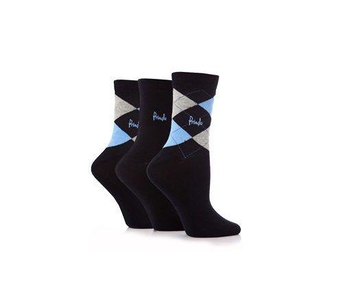 Pringle Women's Argyle Socks Black