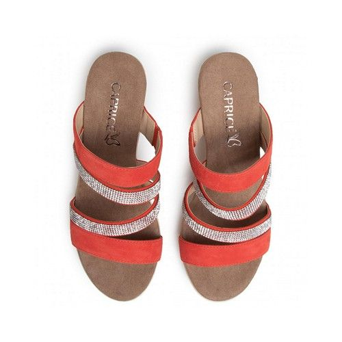Caprice 27202 Women's Wedge Sandals Coral