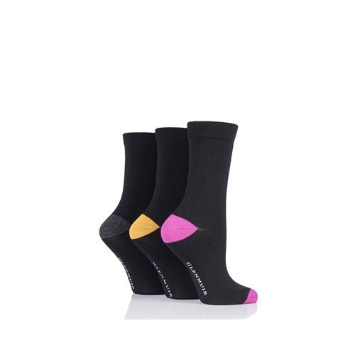 Glenmuir Women's Socks Coloured Toes