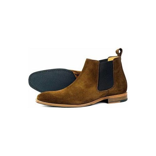 Orca Bay Brompton Chelsea Boots Suede Brown